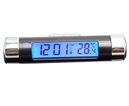 LANYUER Easy Set Digital LCD Blaulicht Bildschirm Auto Wecker Thermometer W Klemme