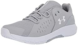 professional Under Armor Men's Charged Commit 2.0 Cross Trainer, Trendy Gray (102) / White, 12