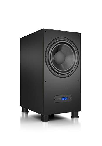Nubert nuLine AW-600 Subwoofer | Lautsprecher für Bass & Effekte | Surround & Action auf hohem Niveau | Aktivsubwoofer-Technik Made in Germany | LFE-Box mit 240 Watt | Kompaktsubwoofer Schwarz