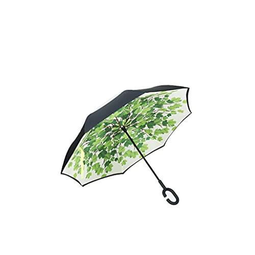 WYH Umbrella Paraguas Invertido Paraguas Paraguas Inversa Paraguas A Prueba De Viento Paraguas para El Coche De Lluvia Al Aire Libre Sombrilla (Color : B)
