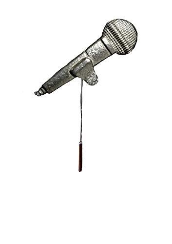 FT391 Microfoon 1.2x3.7cm Engels Tinnen op een stropdas stok pin hoed sjaal kraag geplaatst door ons geschenken voor alle 2016 van DERBYSHIRE UK