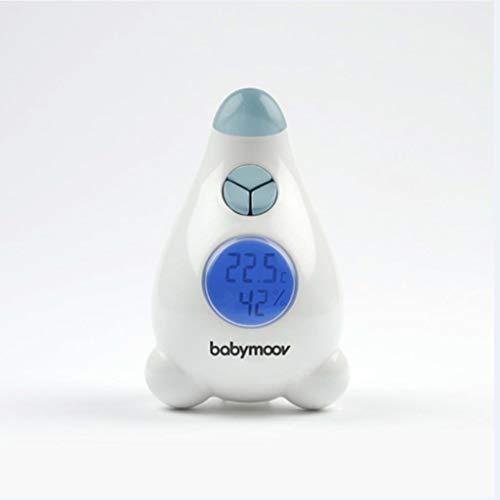 Babymoov A037405 Hygrometer/Thermometer, Messgerät für Luftfeuchtigkeit und Temperatur, weiß