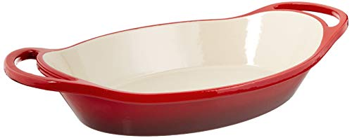 Lodge Oval casserole, 2 Quart, Red
