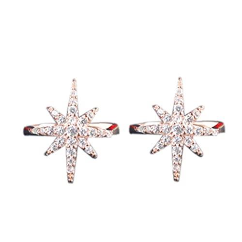 TOSSPER 1 Par De Estrellas En Forma De Oreja Manguito Mujer Zircon Sin Agujero Oreja Pendiente Joyería para Niña Adolescentes