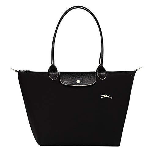 JIWEI Longcham Bag Le Pliage Club Shoulder bag (Black)