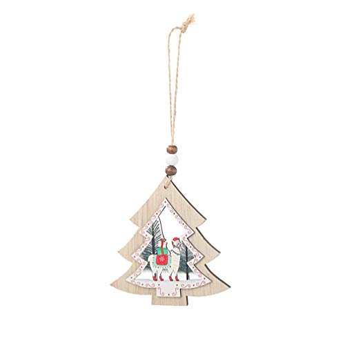 Christmas Wooden Hanging Cutout Xmas Wood Slice Decora Home Tree Props Favors (Heart Shape)