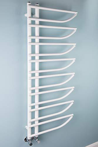 Wärmehaus Designer Handtuchheizkörper Badheizkörper 1250x550mm Weiß
