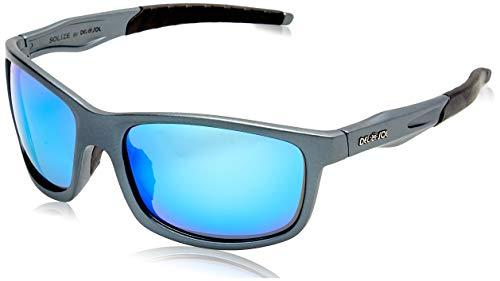 DelSol - Solize Somewhere in the Sun - Charcol-Blue - 100% Protección Uva y Uvb - Marco duradero - Resistente a los golpes y ligero - Funda blanda - Cambia de carbón a azul con exposición solar - 1 PC