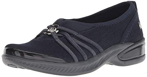 BZees Women's Niche Ballet Flat, Dark Blue, 8.5 M M US