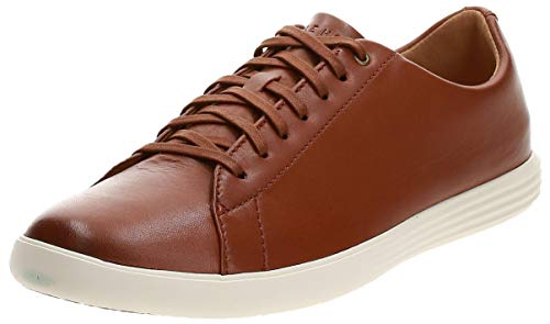 Cole Haan Men's Grand Crosscourt II Sneaker, tan leather burnished, 8 Medium US