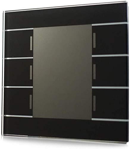 MDT® KNX Taster Glastaster II Smart 6-fach schwarz mit Temperatursensor > BE-GT2TS.01