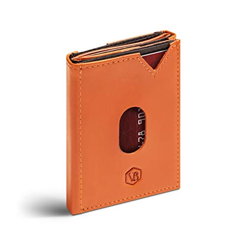 Van Beeken Mini tarjetero para 12 – 14 tarjetas – Cartera de piel para hombre y mujer – Slim Wallet Tarjetero con protección RFID