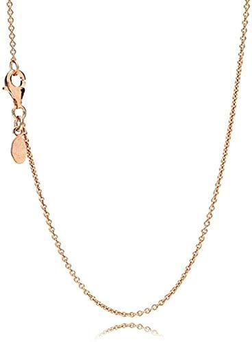 ZHIFUBA Co.,Ltd Collar 925 Collares de Plata Collar de Cadena Fina Pulseras para Mujer Fiesta Boda Joyería Regalos