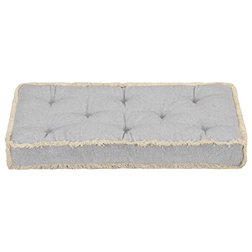 Tidyard Cojín para sofá de palets Cojín para Banco jardín Interior Gris 73x40x7 cm