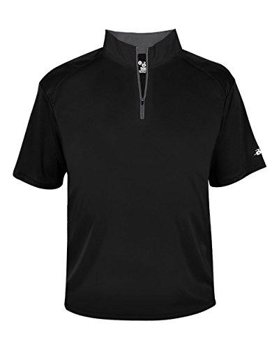 Badger Sport Black Adult 3XL 1/4 Zip Wicking Pullover