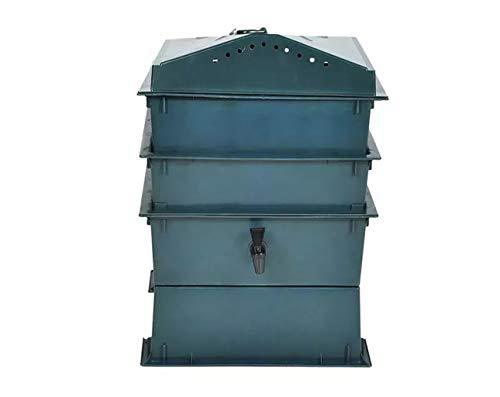 ♻ Compostador de lombrices con 3 bandejas - Vermicompostador para fabricar Humus de lombriz