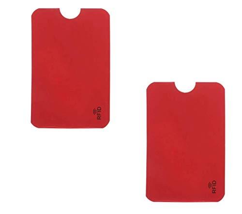 2 st. RFID & NFC skyddsfodral för kreditkort, EC-kort, id-kort, bankkort – 100 % kreditkortsfodral RFID-blockerare mot otillåten datautläsning och olaglig återbetalning