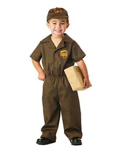 UPS Guy Boy's Costume, Medium (3-4),Brown