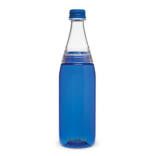 Aladdin Fresco Twist & Go Water Bottle 700ml Blau – Auslaufsichere Trinkflasche | Geeignet für kohlensäurehaltige Getränke | BPA-frei | Einfach mit Eis zu befüllen und zu reinigen | Spülmaschinenfest
