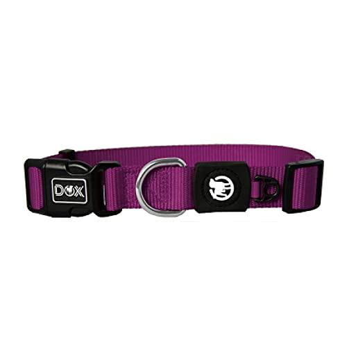 DDOXX Hundehalsband Nylon, verstellbar | viele Farben & Größen | für kleine & große Hunde | Halsband Hund Katze Welpe | Hunde-Halsbänder | Katzen-Halsband Welpen-Halsband klein | Lila, XS
