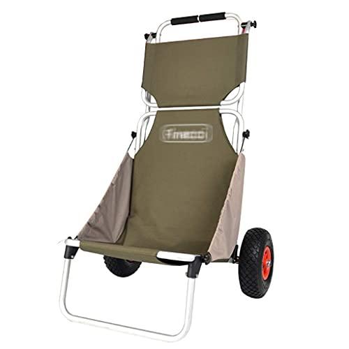 YANJ Einkaufswagen Faltbarer tragbarer Trolley Outdoor-Fotografie-Auto-Fischerwagen-Trolley kann 150 kg tragen (Color : B, Size : 60 * 66 * 108cm)
