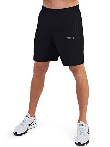 TCA Elite Tech Herren Trainingsshorts für Laufsport mit Reißverschlusstaschen - Anthrazit, M
