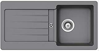 Granitspüle Victory S-VEL860 verschiedenen Farben 860 x 435 mm inkl. Drehexcentergarnitur lightgray