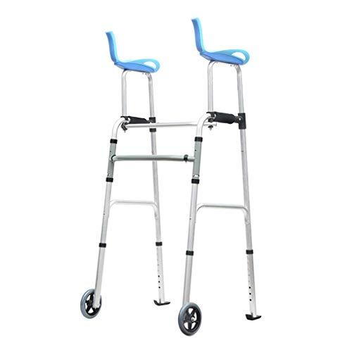 LXDDP Rolling Walkers Hochleistungs-Klapp-Rollator mit Armstütze für Senioren, Erwachsene, extra breiter Vorderrad-Rollator (2 5-Zoll-Räder), Größe für Erwachsene bis 300 lbs, Blau