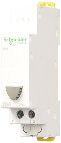 Oferta de Schneider Electric A9E18032 Acti 9 iPB Simple Gris Pulsadores, 1NO, 82mm x 18mm x 71mm, Blanco