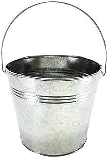 3 pc set Galvanized Buckets w/ Ridges & handles 1quart 4 1/2 inch wide, 4 inch tall