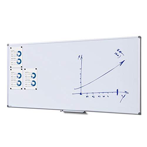 Whiteboard 90 x 180 cm weiß lackiert Magnettafel Wandtafel Schreibtafel