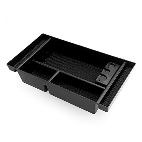 Almacenamiento de coches Caja negra de la bandeja del organizador de la consola del centro CAE W /Caja de monedas y colchón de la estera de la ranura para Chevy Silverado GMC Sierra 1500 Accesorios in