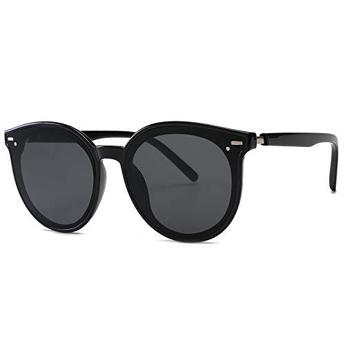 N\P Gafas de sol de montura grande de una pieza para hombres y mujeres, gafas de sol de montura grande redondas