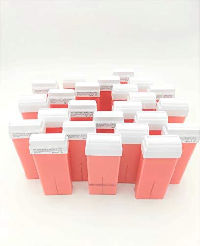 24pz Cera Rullo Rosa al Biossido di Titanio Liposolubile | zero residui uso professionale