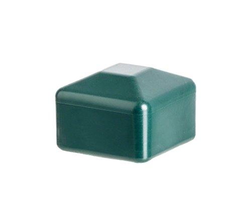 Zaunpfahlkappe 40x40 mm Grün | 5 Stück | quadratisch Kunststoff Pfostenkappen Abdeckappen
