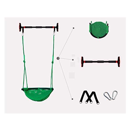 zxb-shop Columpios De Interior y al Aire Libre oscilación Niños Set, Silla Colgante Red de Cuerda Superior Confort y Durabilidad (Color : B)