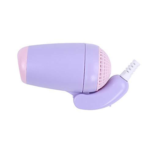 Bebé - Secador De 350W, Muy Delicado, Con Sistema De Temperatura Segura, Mini Secador De Pelo PortáTil Mango Plegable,Púrpura