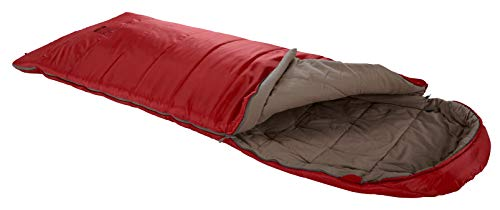 Grand Canyon Utah 190 - Warmer Deckenschlafsack, besonders weich und angenehm durch Baumwoll-Flanell im Innenbezug - Premium Ganzjahres-Schlafsack für Camping, Outdoor, Festival - Red Dahlia