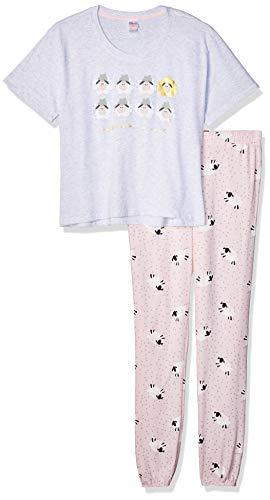 Set Pijama Dama Playera MC y Pantalon Color Rosa Talla GD