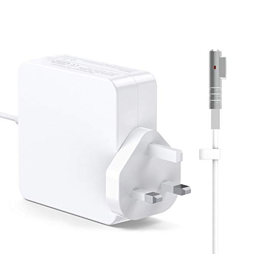 MARVELLER Compatible With MacBook Pro/Air Charger 60W Magnetic Power Adapter MagSafe L-Tip Connector Replacement for MacBook Pro 13-inch and Works With MacBook Air 11-inch and 13-inch Late 2012