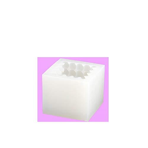 RWEAONT Moldes de Vela de Cubo Grandes 12 cm Cubo Bola de Arte Vela Haciendo moldes de Silicona