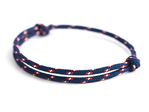 KOMIMAR dezentes Surfer Armband BEACH - Strandschmuck - lässig - Fußband - Armreif - Textilarmband - Freundschaftsarmband - Bracelet - Sommertrend - Herren Armband - Damen Armband
