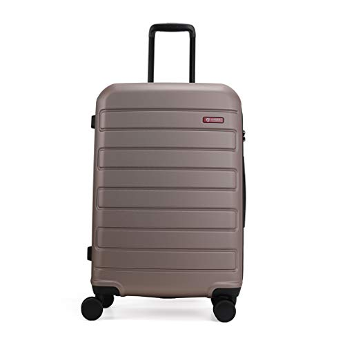GinzaTravel Hardside Spinner, Carry-On, Wear-resistant, scratch-resistant Suitcase Luggage with Wheels valentines day gifts for him (20-inch, Champagne)