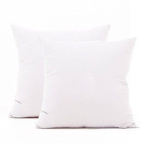 TAOSON 100% Cotton 300 Thread Count 2pc / Pair Pillow Cover Pillowcase Pillow Protector Cushion Cover with Hidden Zipper Only Cover No Insert - European, White 26 x 26 inch