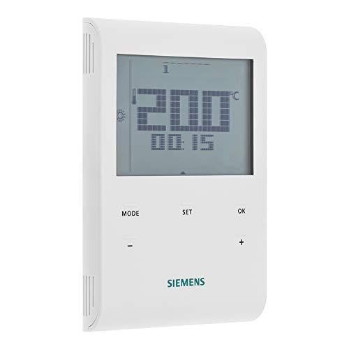 SIEMENS Ingenuity for life - Termostato de ambiente con interruptor de 7 dias y LCD, AV 230 V RDE100