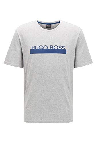 BOSS Herren Identity T-Shirt RN Pyjama-T-Shirt aus Stretch-Baumwolle mit hitzeversiegeltem Logo