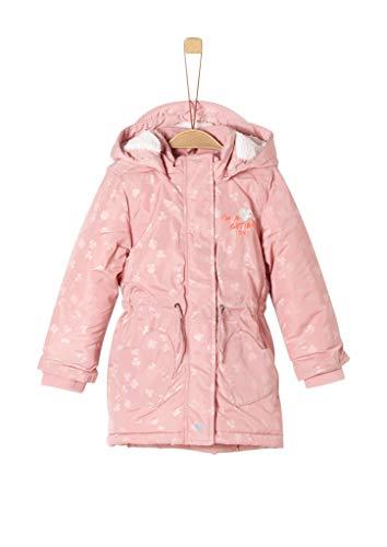 s.Oliver RED LABEL Mädchen Wintermantel mit Teddyplüsch pink AOP 104