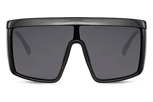 Cheapass Sunglasses Gafas de sol Extreme Masivas Festival Fiesta Gafas de soldar Negro Metálico con lentes oscuros XXL Enorme gran tamaño Hombres Mujeres con protección UV400