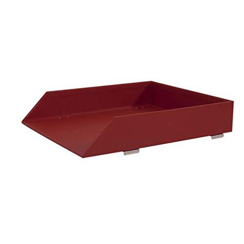 LYLY Sujetalibros de una sola capa para suministros de oficina de escritorio, soporte para archivos de datos, caja de archivos, extremos de libro (color: rojo rosa, tamaño: 25,5 x 30,4 x 5,7 cm)