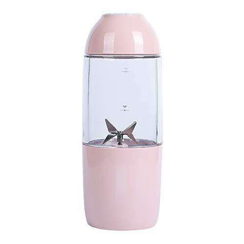 Juice Maker Serria® Tragbarer Mixer USB aufladbarer Stabmixer für einfach zu servierende kleine Mixer für stärkere Shakes Ergänzungsfutter,Saft,Maske herstellen Rosa 380ML